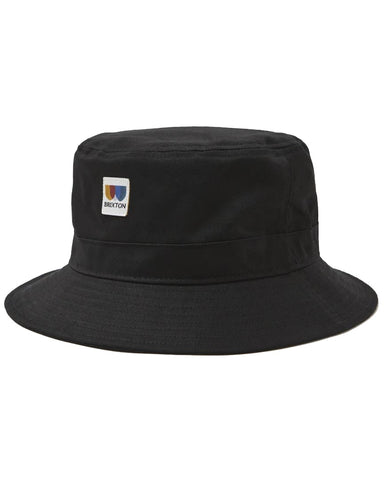 ALTON PACKABLE BUCKET HAT BLACK