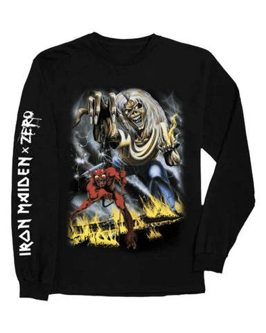 IRON MAIDEN - NUMBER OF THE BEAST L / S TEE BLACK