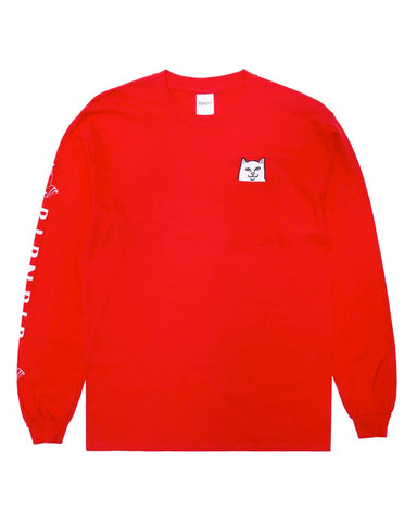 Lord Nermal Pocket Long Sleeve - Cherry Red