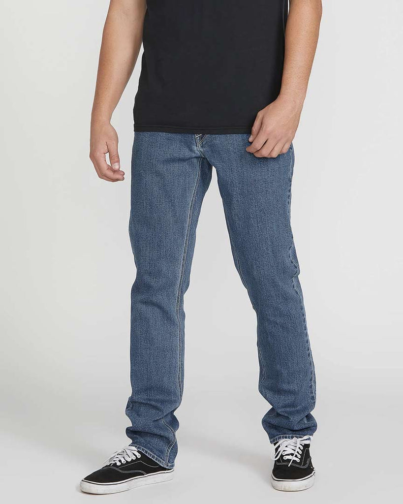 Pantalon VOLCOM VORTA SLIM FIT JEANS - EASY ENZYME MEDIUM