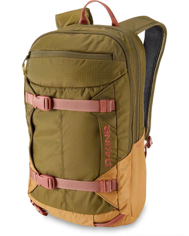 WOMENS MISSION PRO 18L BACKPACK DARK OVILE CARAMEL