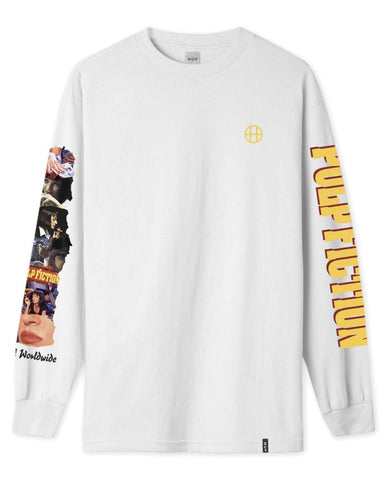 PULP FICTION COLLAGE LONG SLEEVE T-SHIRT WHITE