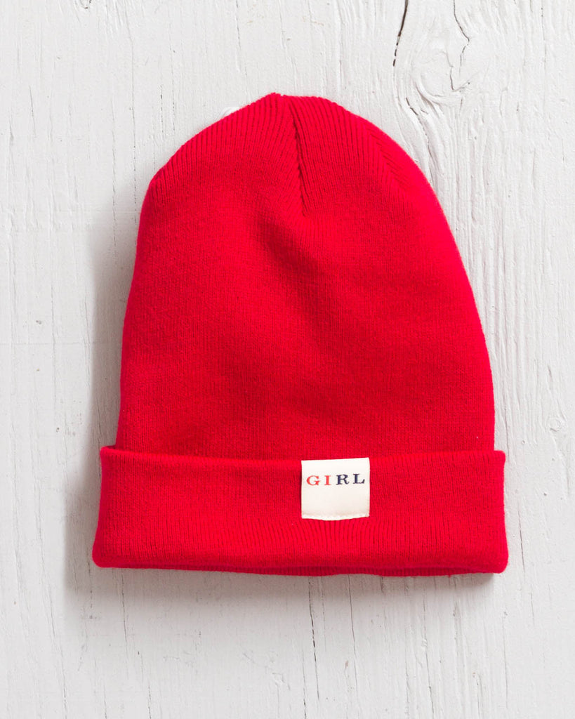 Tuque GIRL CLASSIC FOLD ROUGE