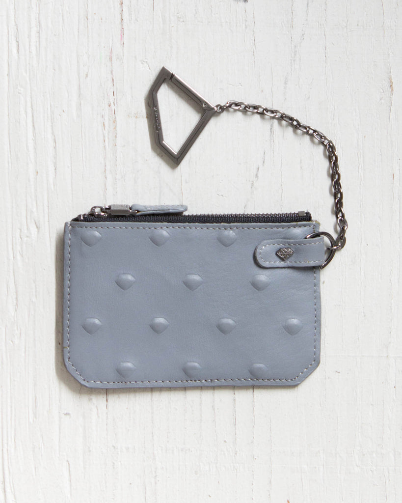 Coin purse DIAMOND CHAIN ​​POUCH XL EMBOSSED GRAY