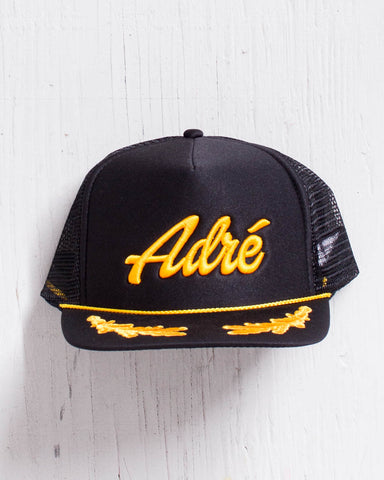 ADRENALINE -ADRE CAPITAINE HAT NOIR/GOLD  - 1