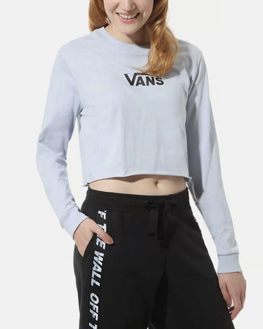 AIRBORNE V CROP LONG SLEEVE ZEN BLUE