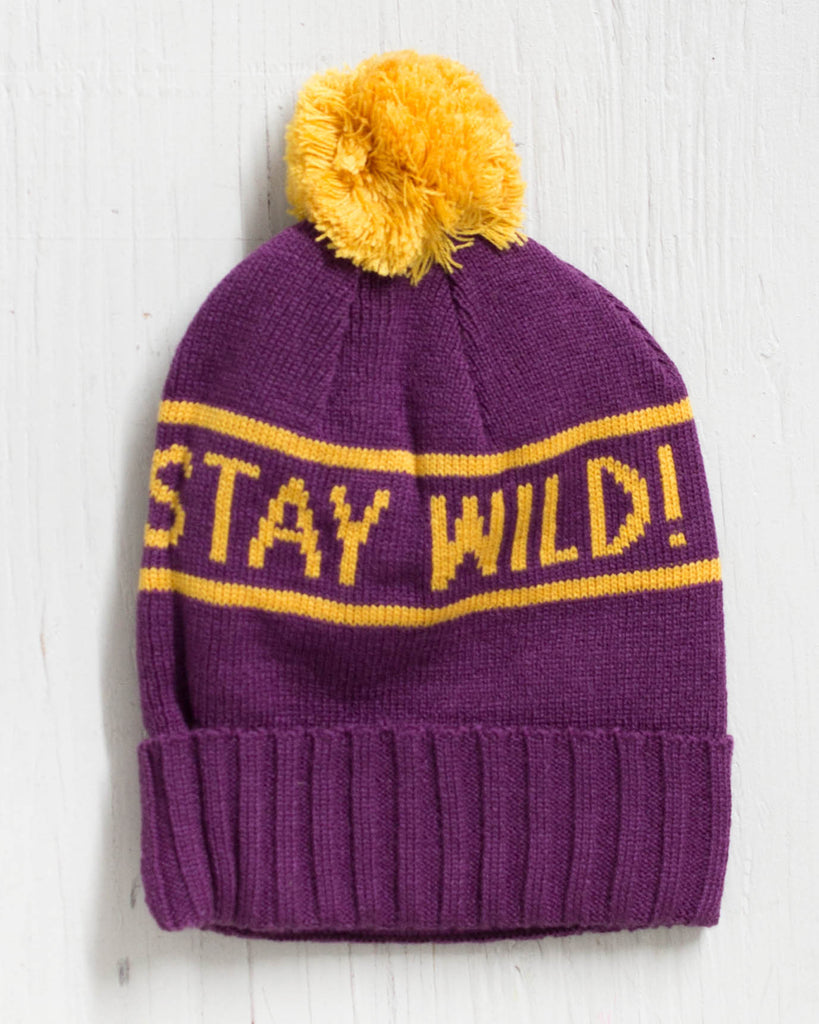 AIRBLASTER STAY WILD PURPLE beanie