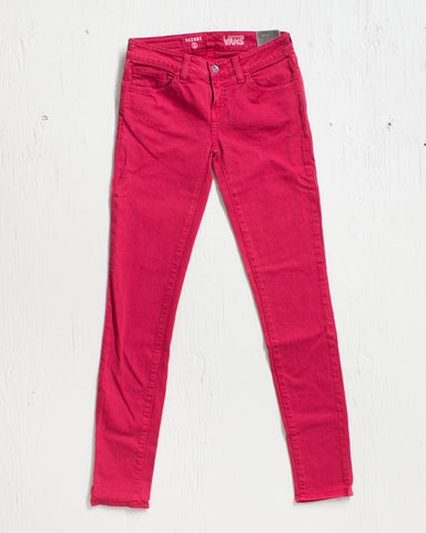 VANS -COLOR SKINNY RIO RED  - 1