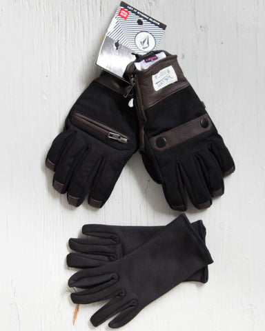 VOLCOM -LET IT STORM GLOVE NOIR  - 1