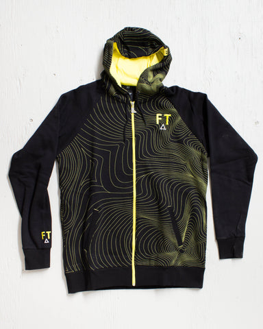 FULL TILT -FT ZIP HOODIE BLACK  - 1