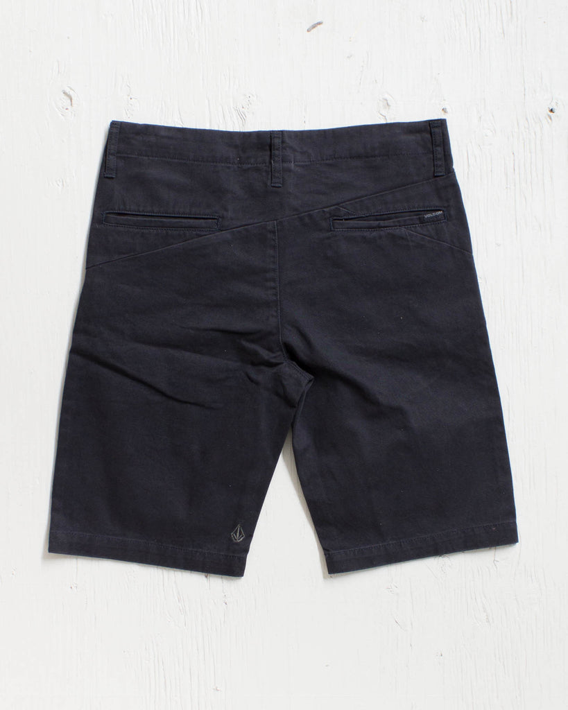VOLCOM -FACETED SHORT BLACK  - 2