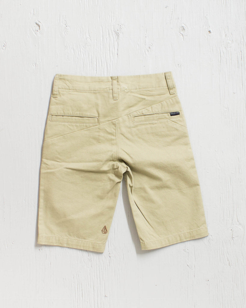 VOLCOM -FACETED SHORT DRILL KHAKI  - 2