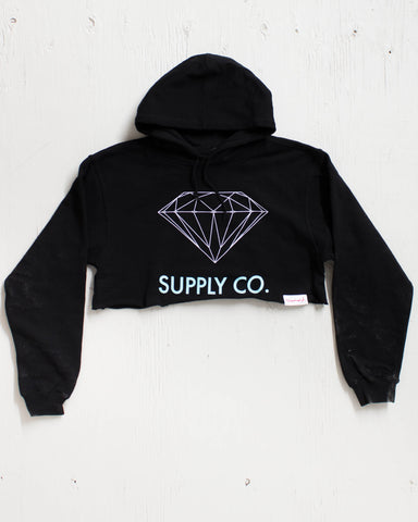 DIAMOND -CROP HOOD SUPPLY CO NOIR