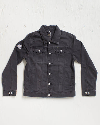 OBEY -FIEND DENIM JACKET BLACK  - 1