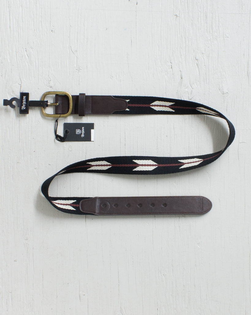 Ceinture BRIXTON COURSE BELT BLACK/BURGUNDY