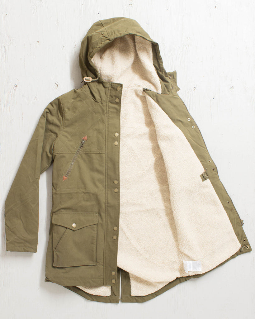 VOLCOM -WALK ON BY PARKA LENTIL GREEN  - 2