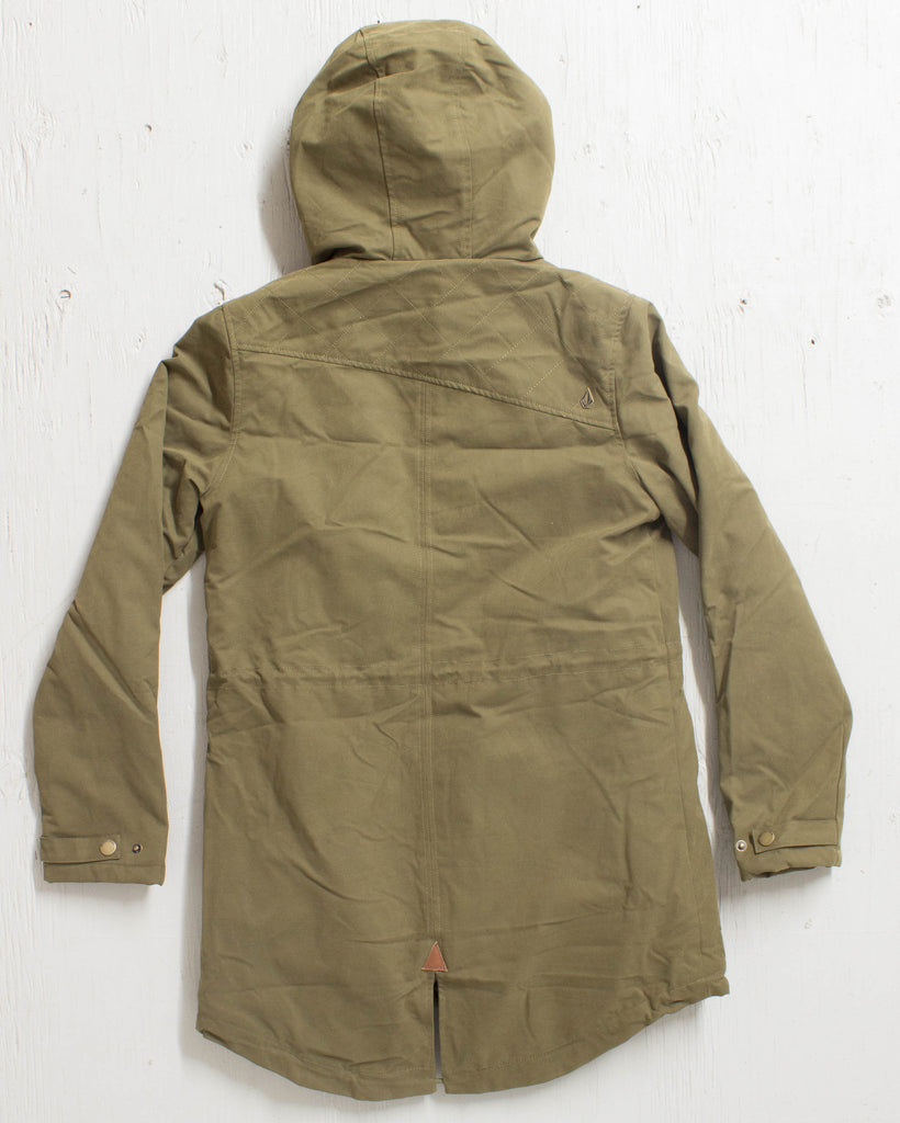 VOLCOM -WALK ON BY PARKA LENTIL GREEN  - 3