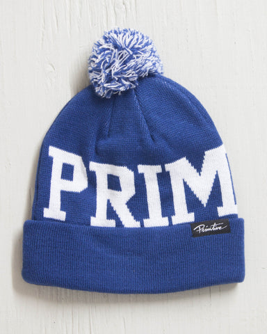 PRIMITIVE -PRIME POM BEANIE ROYAL
