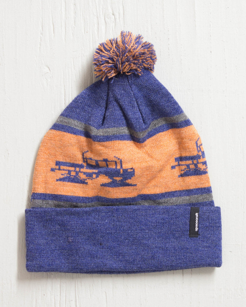 SPACECRAFT SNOWCAT POM NAVY Beanie