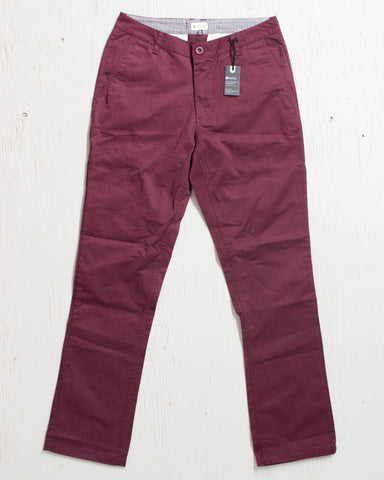 MATIX -WELDER CLASSIC CHINO HEATHER MERLOT  - 1