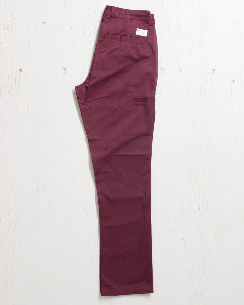 MATIX -WELDER CLASSIC CHINO HEATHER MERLOT  - 2