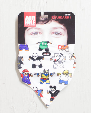 AIRHOLE -YOUTH STANDARD 1 SERIES  FACEMASK DRESS-UP PANDA  - 1