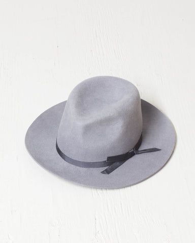 BRIXTON -MANHATHAN FEDORA LIGHT GRAY