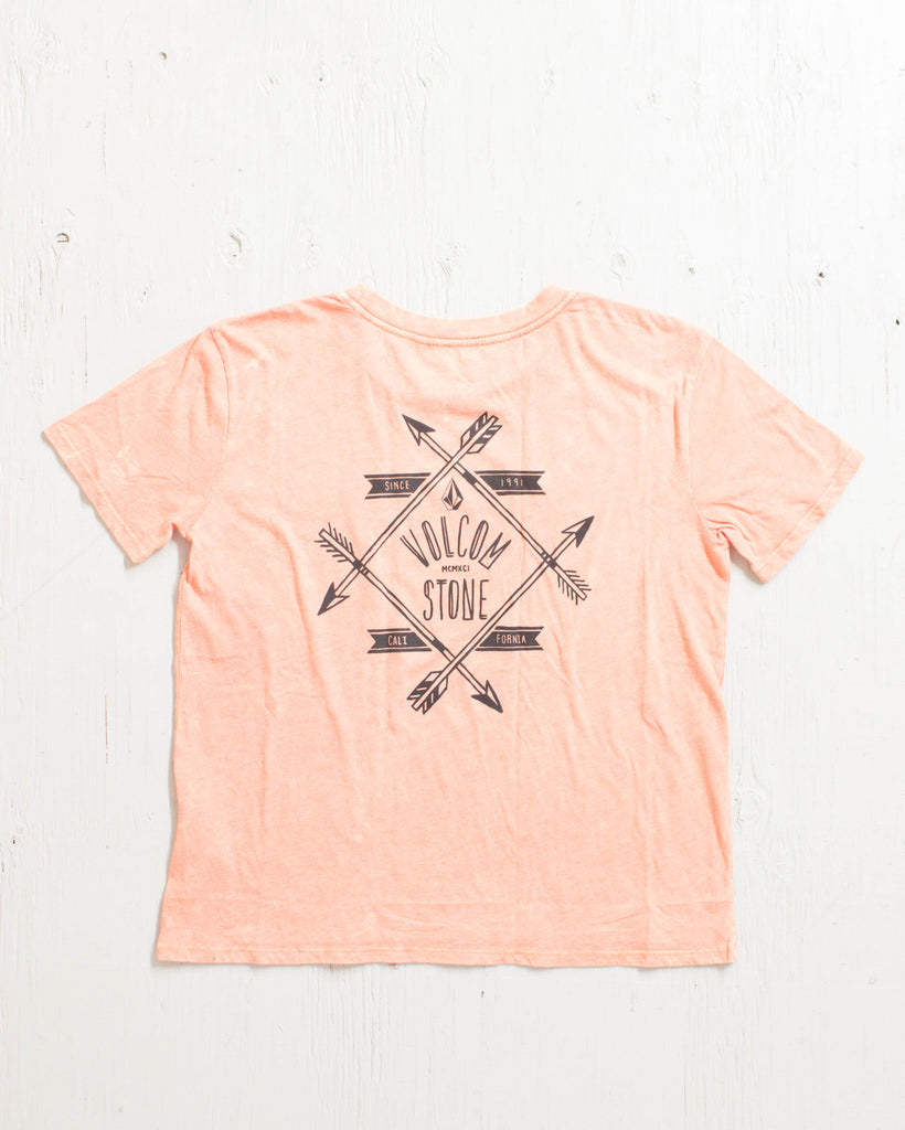 VOLCOM -NATIVE BASIC TEE FIRE RED  - 2