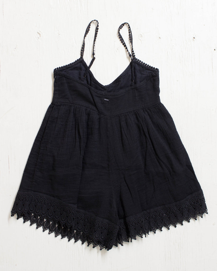 VOLCOM -PINNED ROMPER BLACK  - 2