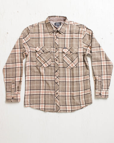 BRIXTON -WELDON L/S BROWN