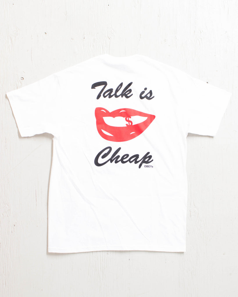 OBEY -TALK IS CHEAP WHITE  - 2