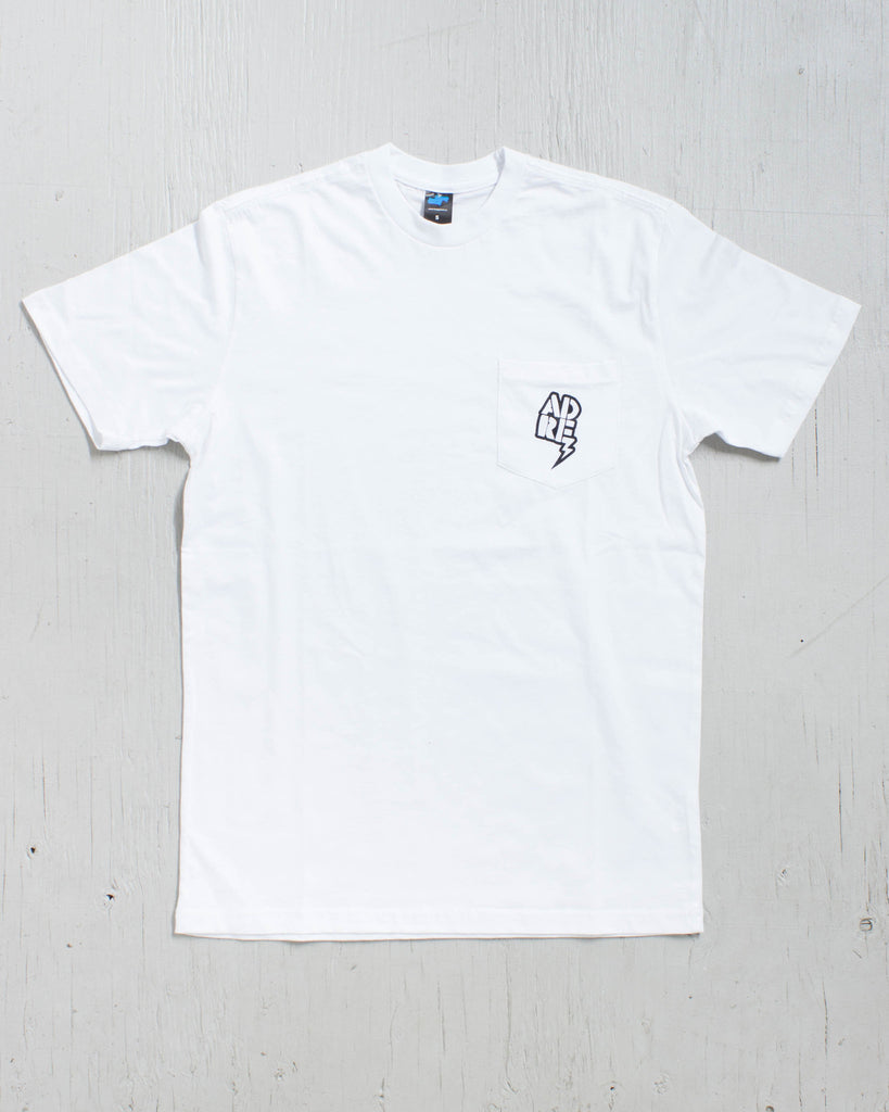 T-shirt ADRENALINE BIG LOGO POCKET BLANC