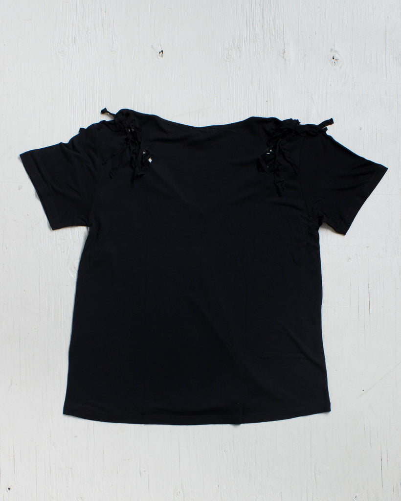 VOLCOM -KNOT HAPPENING TOP BLACK  - 2