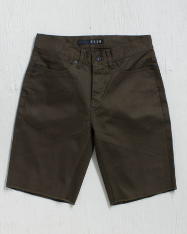KREW -K SLIM 5 POCKET DARK DRAB  - 1