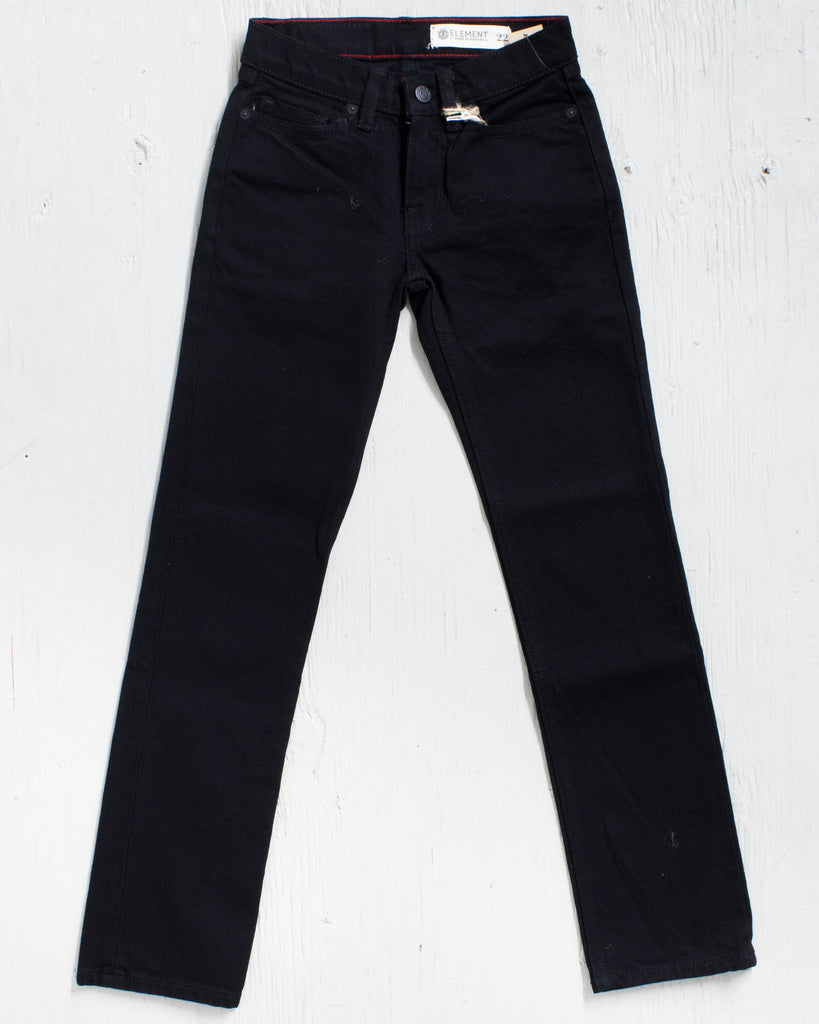 ELEMENT BOYS trousers DESOTO DENIM BLACK RINSE