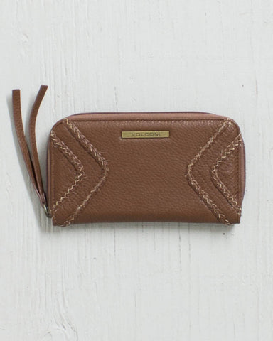 VOLCOM -CITY GIRL ZIP WALLET BEAR BROWN  - 1