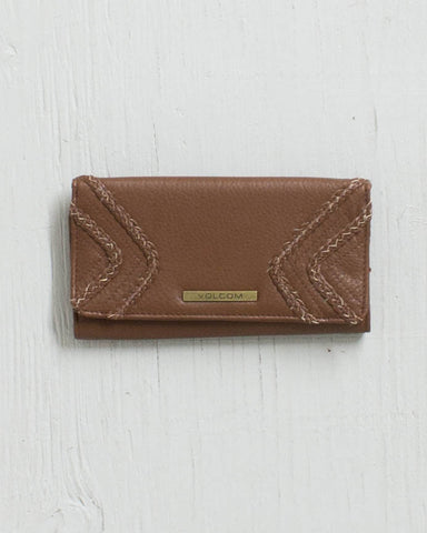 VOLCOM -CITY GIRL WALLET BEAR BROWN  - 1