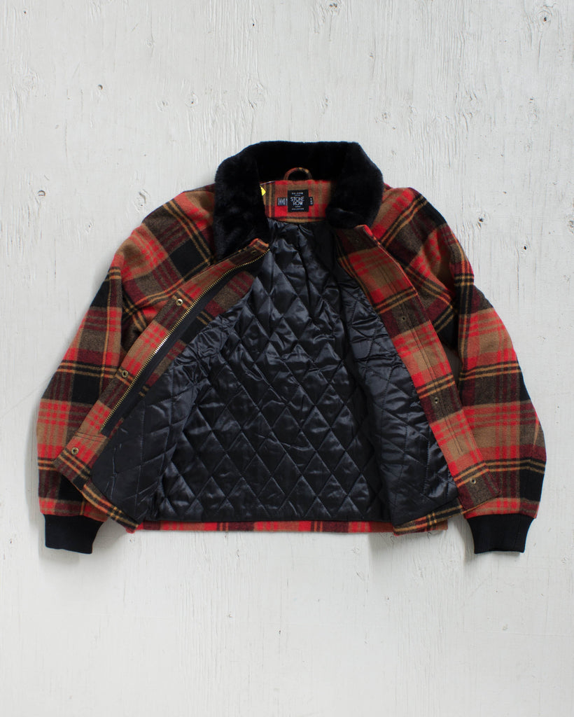 VOLCOM -CHICKITY CHECK JACKET BEAR BROWN  - 3