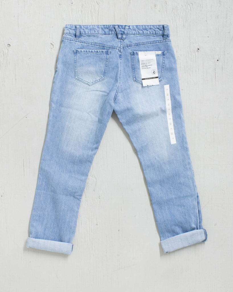Jeans VOLCOM 1991 STRAIGHT ANKLE USED BLUE