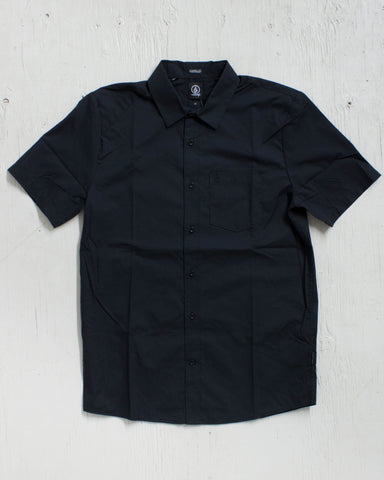 VOLCOM -EVERETT SOLID BLACK  - 1