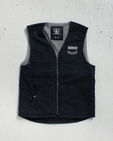 VOLCOM -ANTI HERO RIDE VEST BLACK  - 1