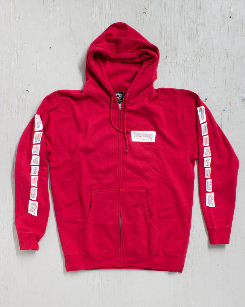 THRASHER -BOXED LOGO RED