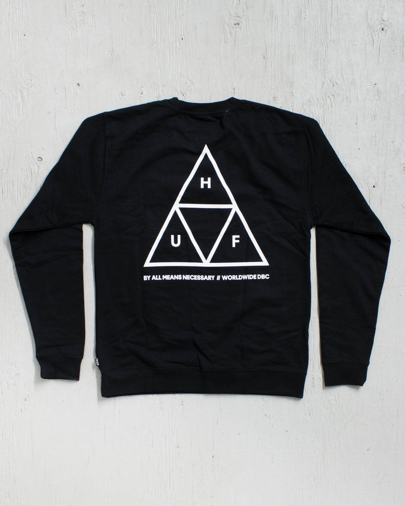 HUF -TRIPLE TRIANGLE BLACK  - 1