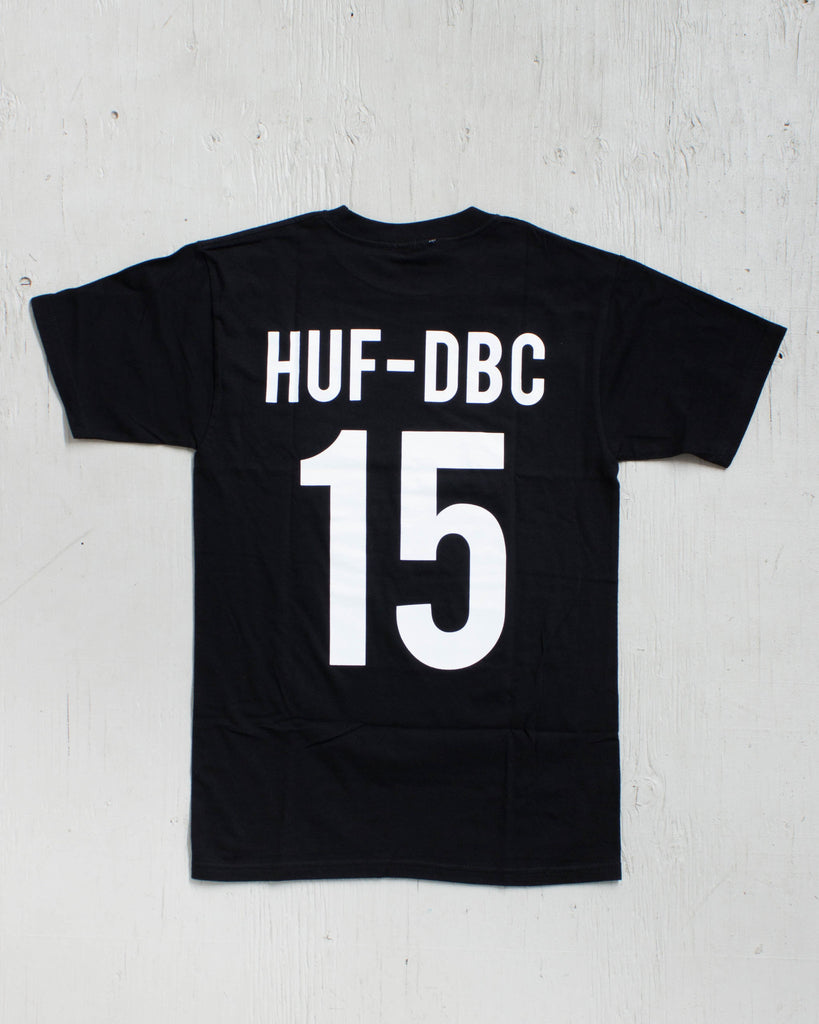 HUF -HUF X THRASHER TEAM TEE BLACK  - 2