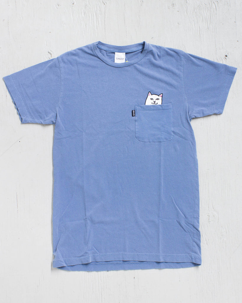 RIPNDIP POCKET LORD NERMAL BLUE PIGMENT T-shirt