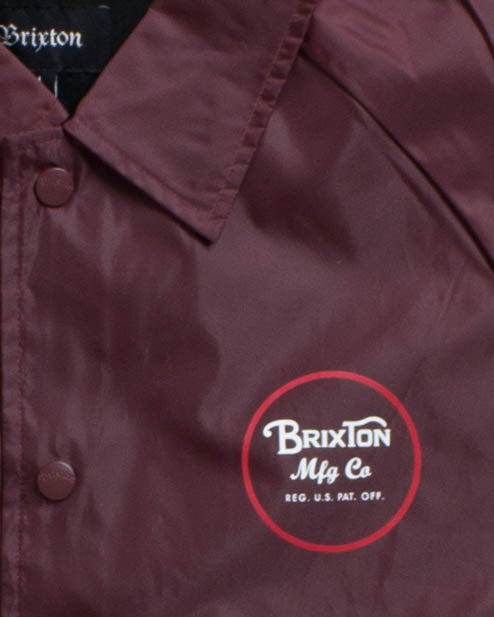 BRIXTON -WHEELER JACKET BURGUNDY  - 3