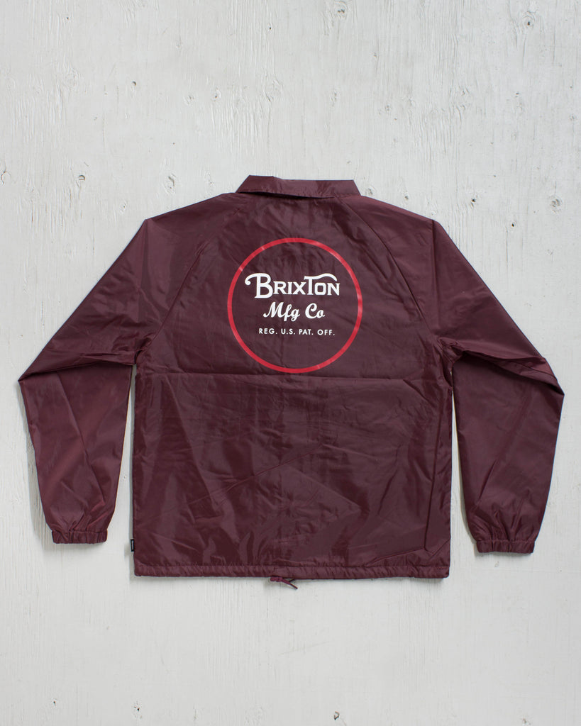 BRIXTON -WHEELER JACKET BURGUNDY  - 2