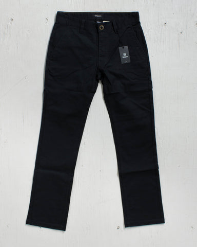 BRIXTON -RESERVE STANDARD FIT CHINO BLACK PANTS - 1