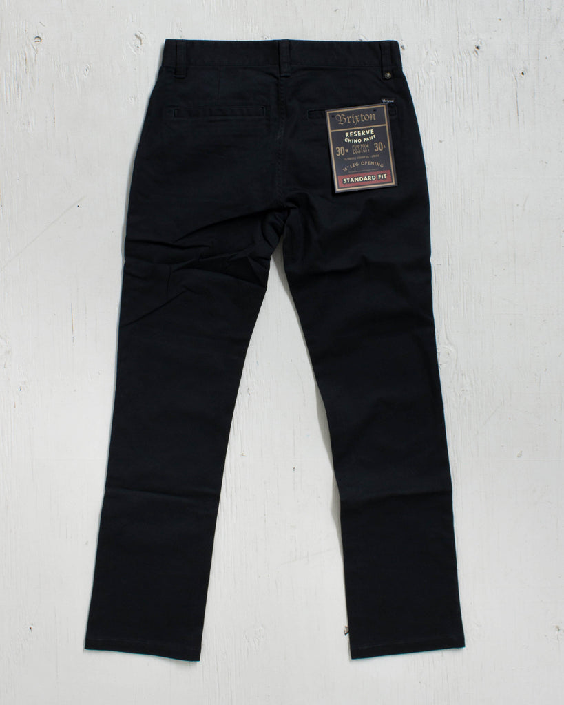 BRIXTON RESERVE STANDARD PANTS FIT CHINO BLACK PANT