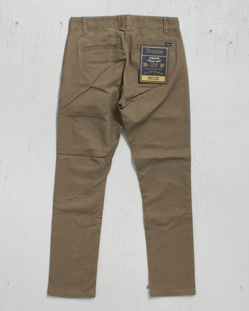 BRIXTON -RESERVE STANDARD FIT CHINO OLIVE PANT  - 2